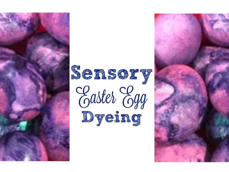 Check out our alternative to shaving cream to make egg dyeing a safe and edible process for little ones!