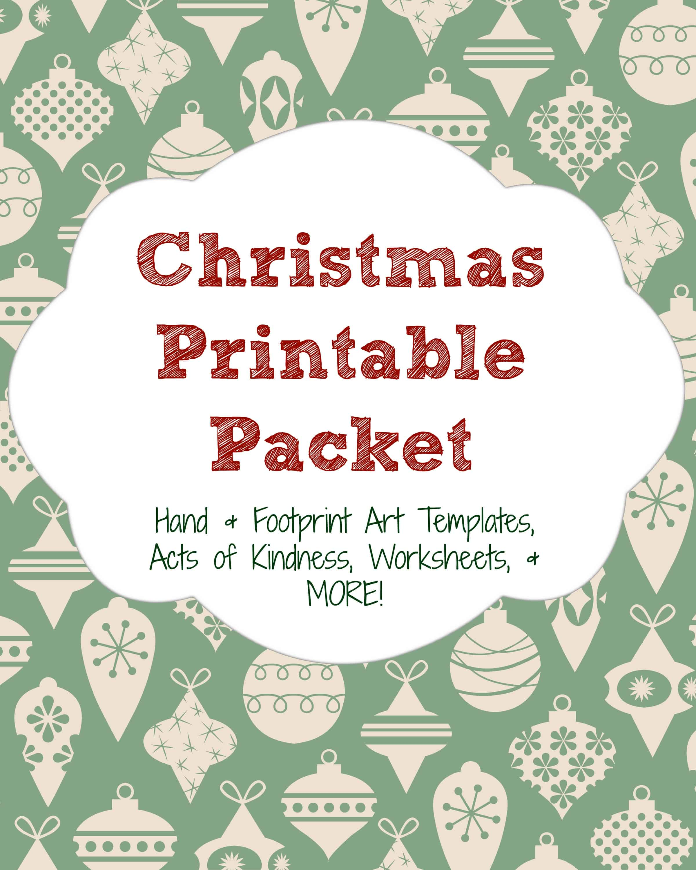 This packet includes worksheets, handprint & footprint art templates, acts of kindness activities, and more!