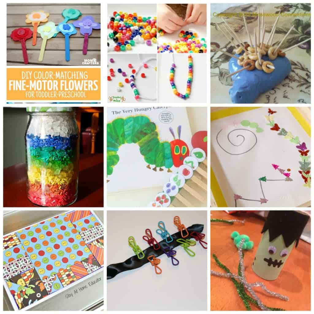 30 Fine Motor Activities For Toddlers And Preschoolers