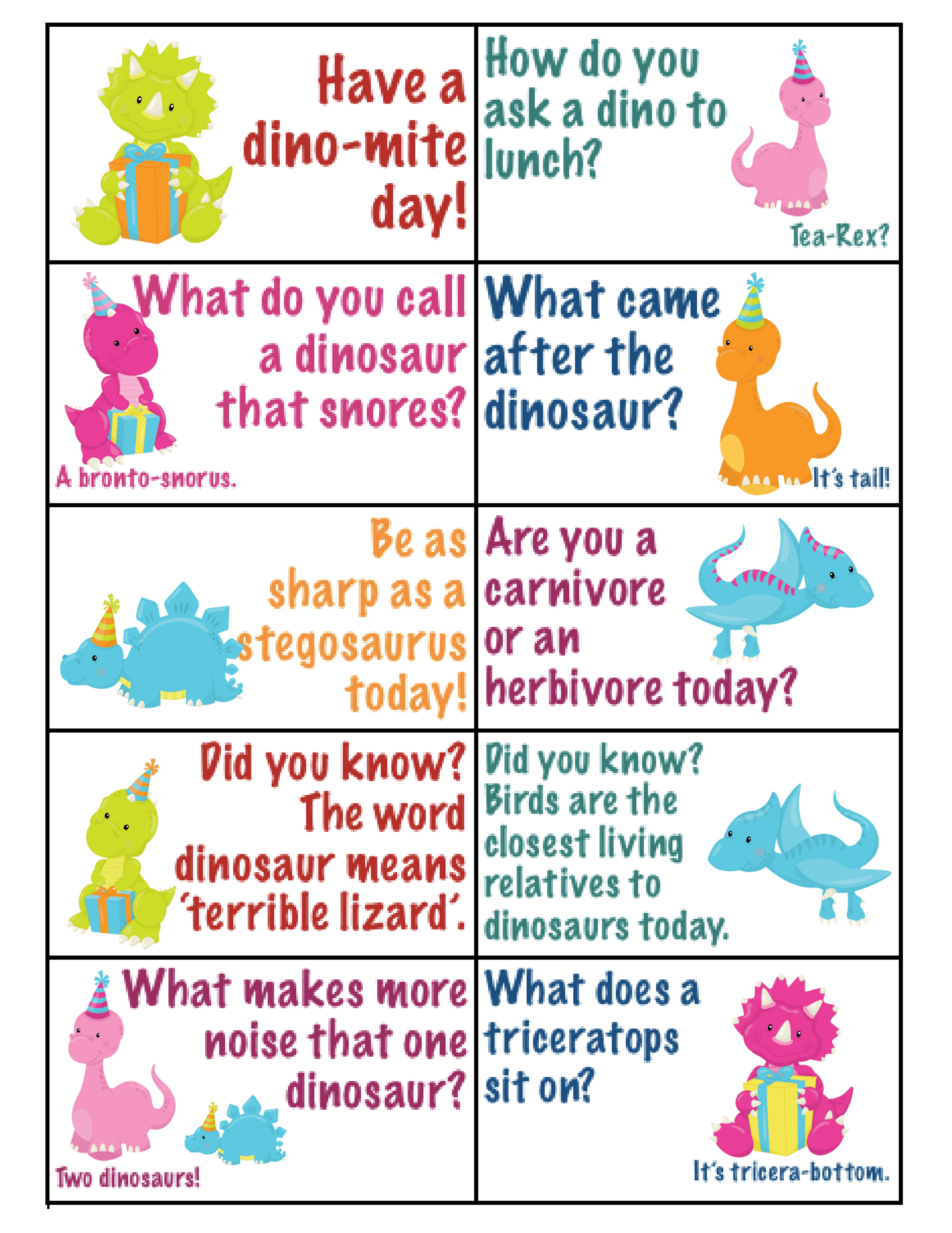 A Dinosaur Lunch Kids Will Love Printable Dino Lunchbox