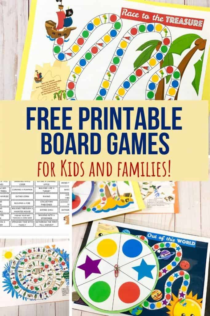 Free Printable Board Games For Kids Views From A Step Stool