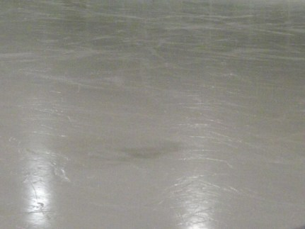 When the ice looks like this, we often jokingly wonder where Blazers keeps the Teradactyls :