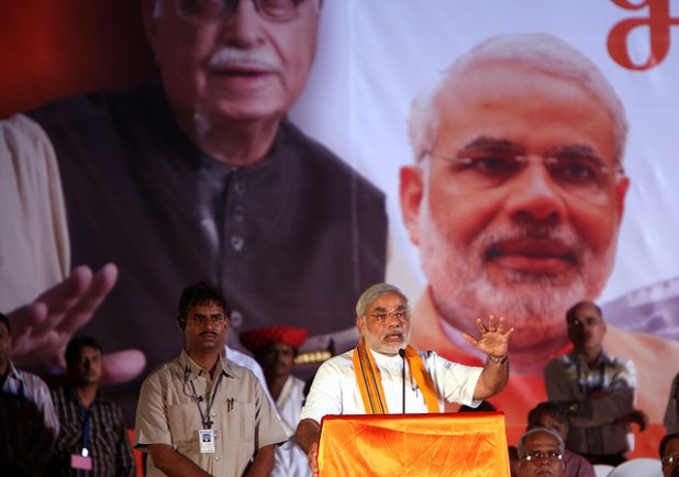 Charismatic and controversial, Narendra Modi is seen both as divisive and unifying force in India. (Photo by Al Jazeera English, Creative Commons License)
