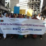 UN Day for the Elimination of Violence Against Women walk in Dhaka, organized by BIWTC Workers Union . (Photo by International Transport Workers Federation)