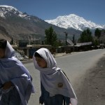 School children going to school in Hunza in Pakistan's Northern Areas. (Photo by Hashoo Foundation USA)
