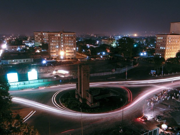 Downtown Kinshasa, DRC. (Photo by Tom)
