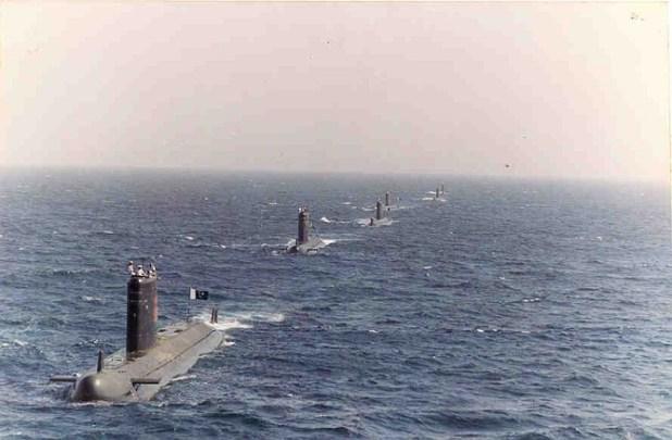 A glimpse of pakistan Navy's submarine fleet. (Photo by Pakistan Navy)