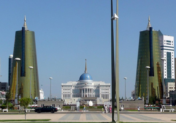 Kazakhstan's presidential palace in Astana. The oil-rich Central Asian country has seen an increase in militancy in recent years. (Photo by Unci_Narynin)
