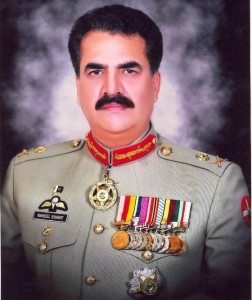 A portrait of General Raheel Sharif, Pakistan's new army chief.