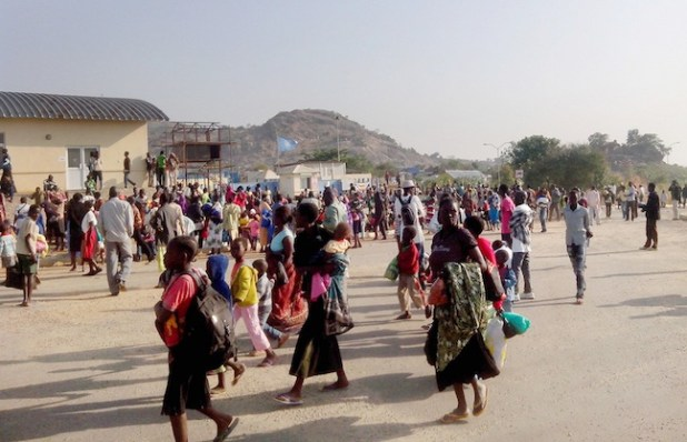 Civilians Seek Protection after Fighting in Juba. UN photo. (UN Photo by George Mindruta)