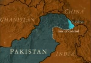 Siachen map
