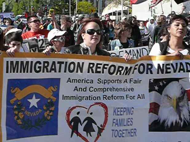 Pro-immigration reform rally in Reno Navada in May last year. (Photo by occupyreno_media, Creative Commons License)