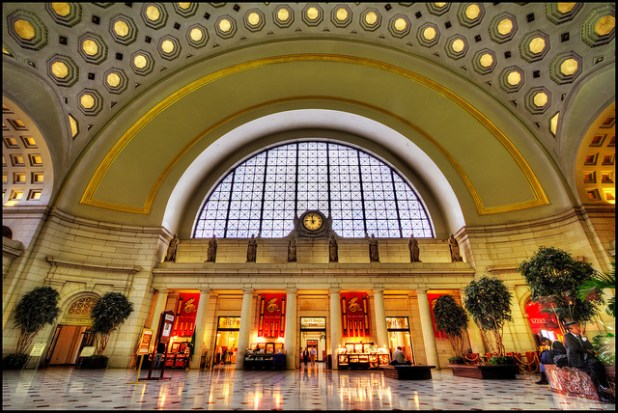 A view of Union Station in Washington DC. (Photo by szeke, Creative Commons License)