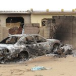A car that was burnt during the crackdown on Boko Haram in July 2011. (Photo by Aminu Abubakar via IRIN)