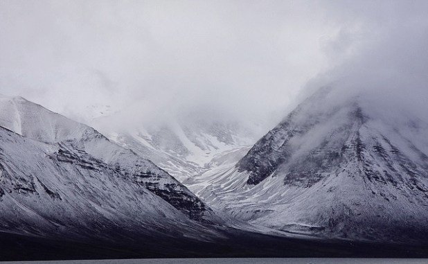 A view of arctic glaciers. (Photo by by Polar Cruises, Creative Commons License)
