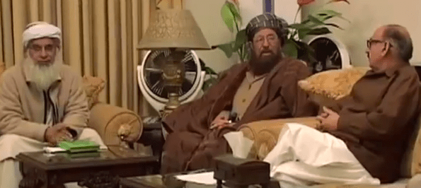 Pakistani government and Taliban representatives holding peace talks in Islamabad. (Photo from video stream)