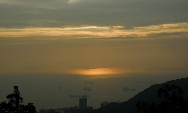 Sunset on South China Sea near Hong Kong. (Photo by njtrout_2000, Creative Commons License)