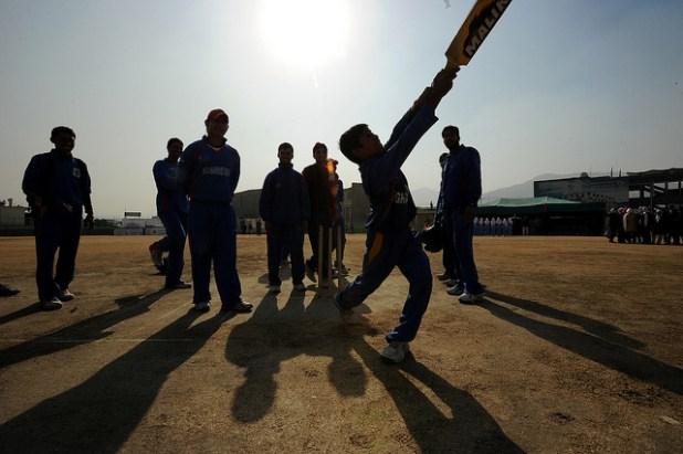 Young cricket players at Kabul National Cricket Stadium. (Photo by U.S Embassy Kabul)