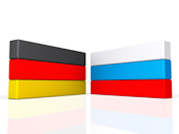German and Russian flags. (Photo by One Way Stock, Creative Commons License)