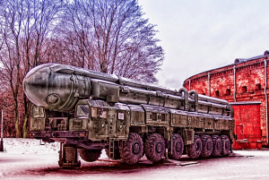 Russian Mobile Intercontinental Ballistic Missile RT-2PM Topol. (Photo by  Andrey Korchagin, Creative Commons License)