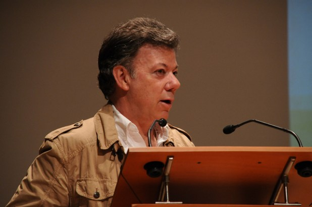 Colombian president Juan Manuel Santos. (Photo by GDNet, Creative Commons License)
