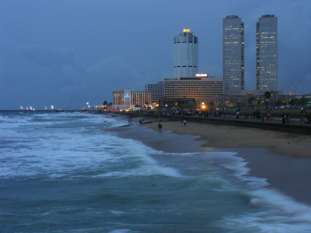 The skyline of Sri Lankan capital Colombo. (Photo by Andrew Fysh, Creative Commons License)
