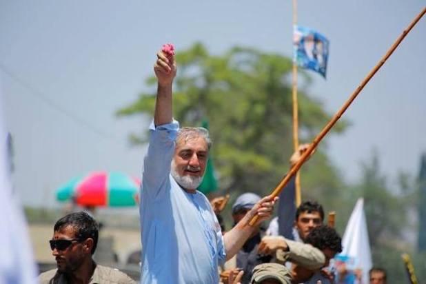 Dr Abdullah Abdullah is alleging widespread electoral fraud. (Photo via Abdullah Abdullah's Facebook page)