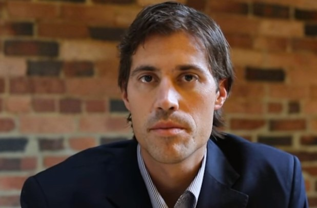 James Foley in  a television interview. (Photo via videostream)