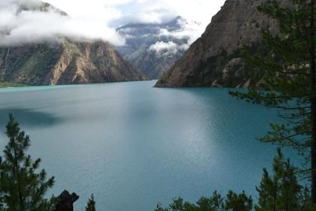 Dolpa's jewel is Phoksundo, a lapis lazuli-coloured lake, Nepal's deepest and second-biggest. (Photo by Hum Gurung via Nepali Times)