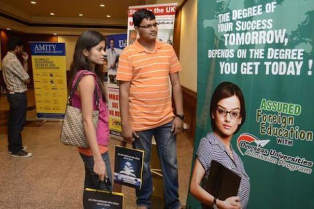 A degree from a top foreign university tends to be valued more in the Indian job market than a local degree, a perception based on facts too. (File photo by Nagara Gopal, via The Hindu)