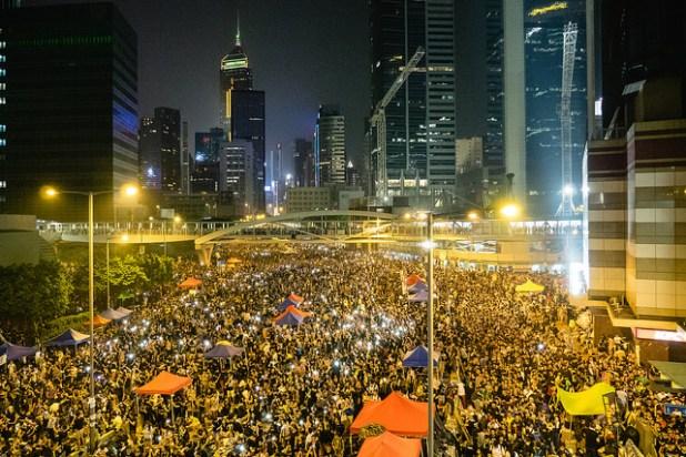 Hong Kong's Umbrella Revolution. (Photo by Pasu Au Yeung, Creative Commons License)