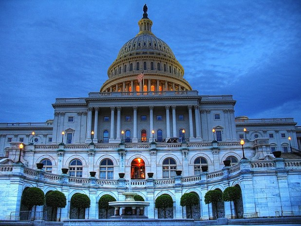 US Capitol building in Washington DC at sunset. (Photo by Patrick McKay, Creative Commons License)