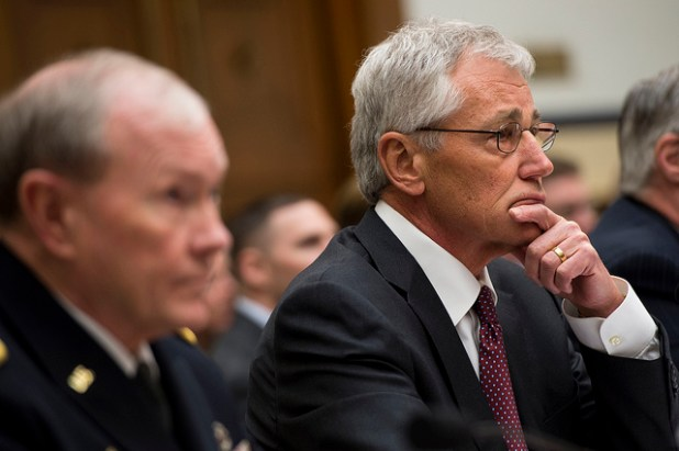 ecretary of Defense Chuck Hagel, Chairman of the Joint Chiefs of Staff General Martin Dempsey testify before the House Armed Service Committee at the Rayburn House Office Building in Washington D.C. on March 6, 2014. (Photo by U.S. Department of Defense, Creative Commons License)