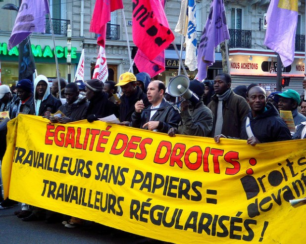 "Immigrants in France come from Western & Northern Africa but a sizeable number of ""sans papiers"" are coming from Eastern Europe, Middle-East, North Africa, and the largest group are Chinese workers.  (Photo by Evan Bench, Creative Commons License)"