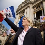 Marine Le Pen at a National Front rally in France. (Photo by Ernest Morales, Creative Commons License)