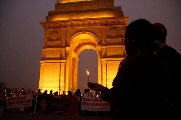 A Candle light vigil at India Gate in New Delhi. (Photo by Joe Athialy, Creative Commons License)