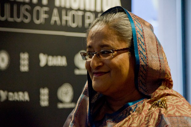 Prime Minister Hasina Wajid's confrontational politics has created more political fissure for Bangladesh than its budding democracy can afford. (Photo via Asia Society, Creative Commons License)