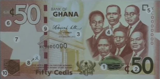 Ghana's currency, the cedi, has been losing its value fast. (Photo via video stream)