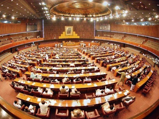 A view of Pakistan's National Assembly.