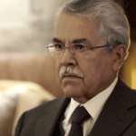 Saudi Oil Minister Ali Bin Ibrajim Al-Naimi, the architect of Saudi Arabia's strategy to plug the low-oil-prices-driven revenue hole  by pumping up production to record levels. (Photo via video stream)