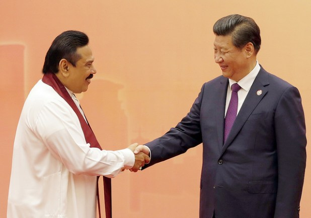 A file photo of former Sri Lankan President Mahinda Rajapaksa at a hosted by his then Chinese President Xi Jinping and First Lady Peng Liyuan. (Photo via Mahinda Rajapaksa, Creative Commons License)
