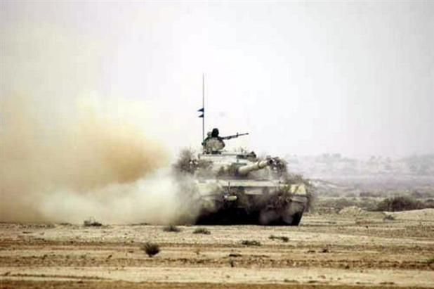 A Pakistan Army tank participating in a military exercise. (Photo via ISPR)