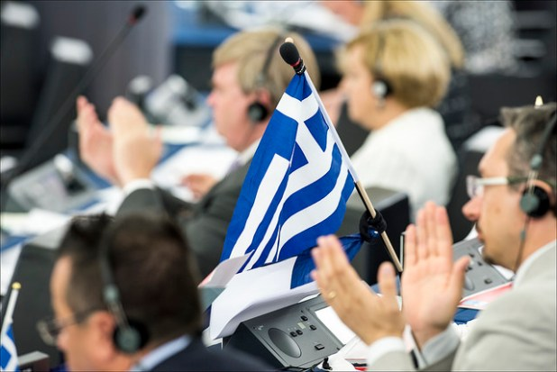 Plenary debate on Greece with PM Alexis Tsipras. (Photo by European Parliament, Creative Commons License)
