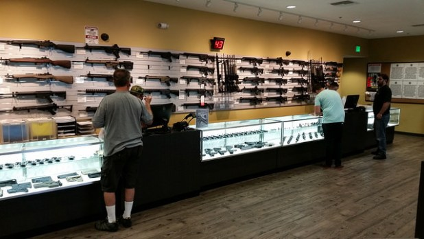 A gun shop in Fountain Valley, California. (Photo by Creative Commons License)
