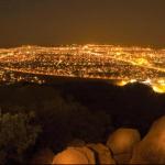 Botswana's capital city Gaborone at night. (Photo via Botswana Tourism)