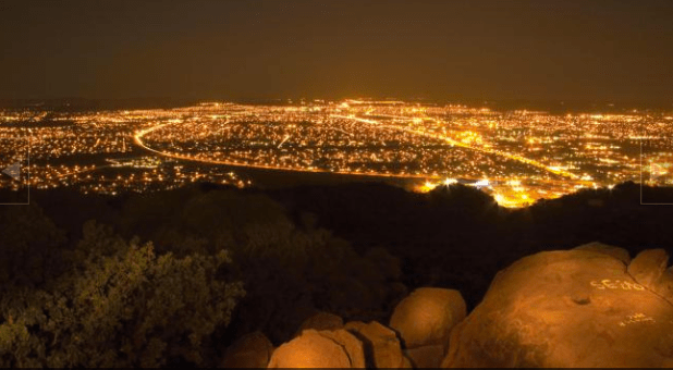 Botswana's capital city Gaborone at night. (Photo via Botswana Tourism)