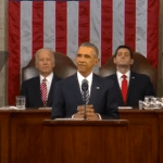 President Obama delivering his last State of the Union address on January 12. (Photo via video stream)