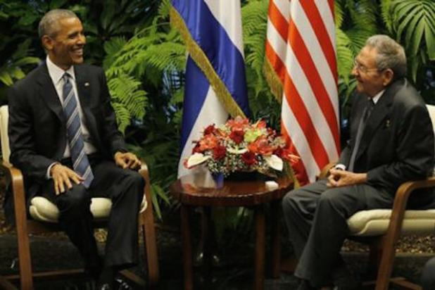 President Obama meeting with Cuban counterpart Raul Castro. (Photo via caribbeannewsnow.com)