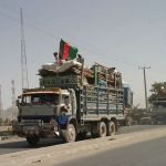 A file photo of a truck loaded with Afghan refugees returning from Pakistan after years in exile.