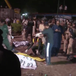 Scene of a bomb attack in the Pakistani city of Lahore in March 2016.